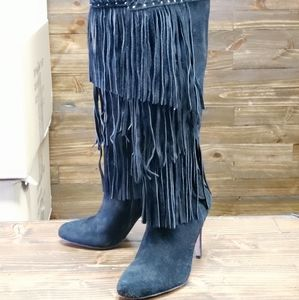 INC International Concepts Suede Heel Boots Size 7